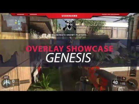 Twitch / hitbox Overlay Template - Genesis Showcase