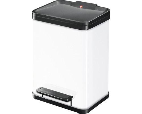 Abfallsammler Hailo Öko Duo Plus 22 Liter weiss mit Soft-Close-Mechanismus