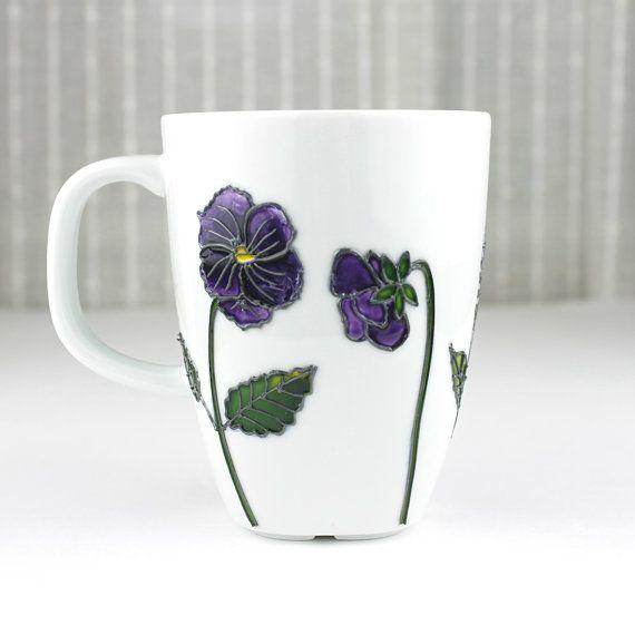 Hand Painted Porcelain Cup Coffee Mug Tea Cup Tea by witchcorner