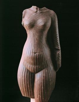 Nefertiti / Torso / c. 1350 BC Egyptian, New Kingdom, 18th Dynasty, Amarna-Period, c. 1350 BC.