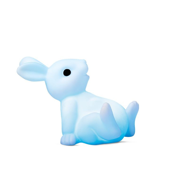 Watching this reclining rabbit change colours will lull you to sleep. And if you wake up during the night, its light will reassure you. Bunny nightlight for $3.