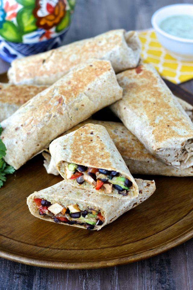 Crispy Chipotle Tofu and Black Bean Burritos featuring @nasoya | The Foodie Physician #ad