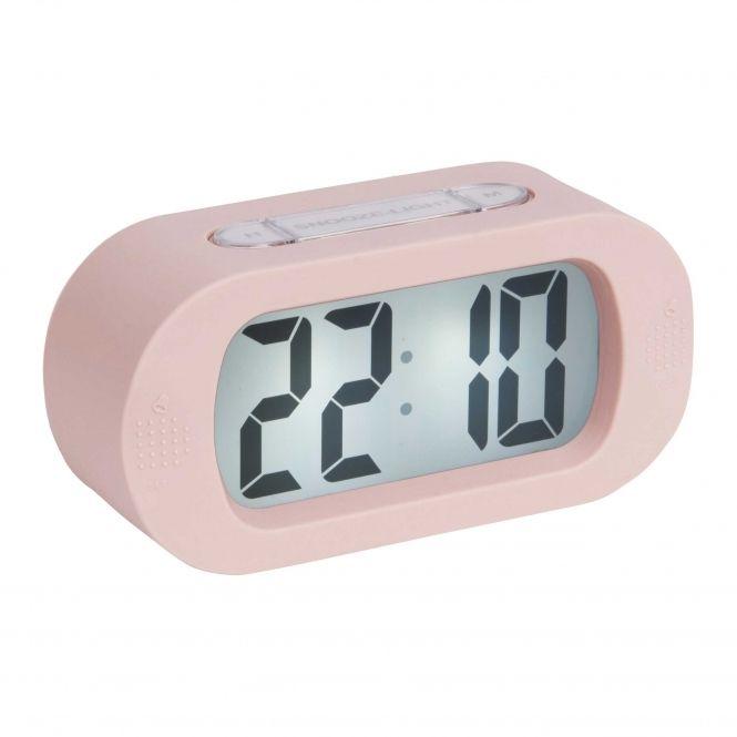 Gummy Digital Rubberised Alarm Clock Light Pink Alarm Clock