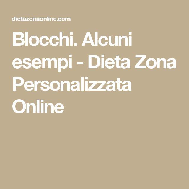 Blocchi. Alcuni esempi - Dieta Zona Personalizzata Online