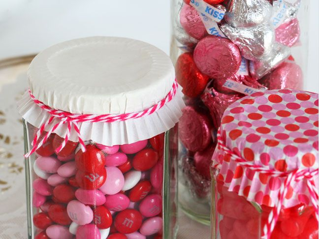 DIY Valentine's Day Candy Jars - Momtastic How cute are these?