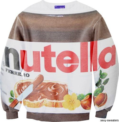 For Nutellovers: Sexy Sweaters, Clothing, Funny, Awesome Sweatshirts, Nutella Sweatshirts, Nutella Sweaters, Amenities Fashion, Things, Wear