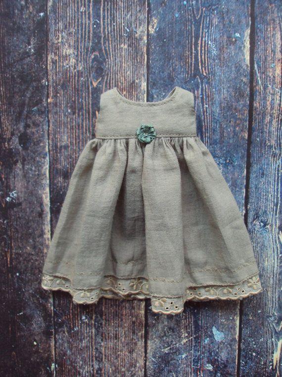 Frock dress for Blythe Sage muslin MTO by moshimoshistudio