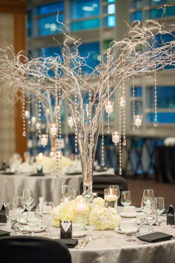 chic and elegant wedding centerpieces decor ideas
