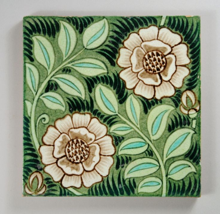 William De Morgan tile with flowers and foliage | Flickr - Photo Sharing!