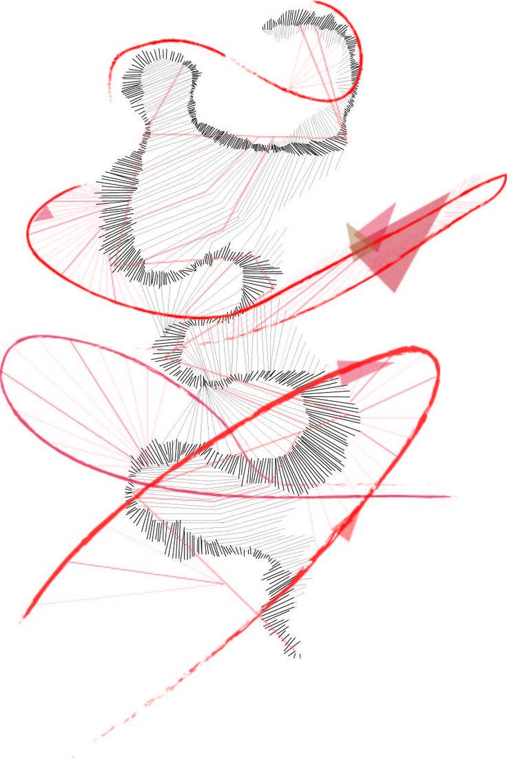 플라멩고 치마의 움직임을 기계적이면서 역동적으로 표현