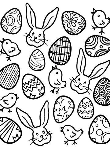 spring easter coloring pages - 314 best kid friendly easter inspiration images on