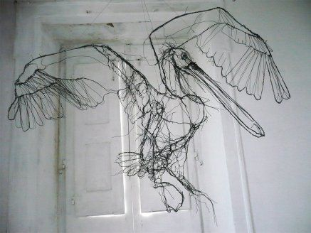 #Art: #wire #sculptures by #DavidOliveira #arte #scultura