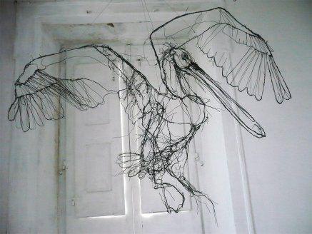 #Art: #wire #sculptures by #DavidOliveira #arte #scultura