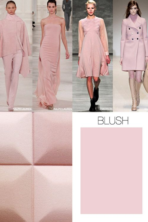 Pink is the key color trend for Fall-Winter 2015/2016 - tutu dress blue pink and grey? Or blush pink and ivory? Scalloped stripes on top?