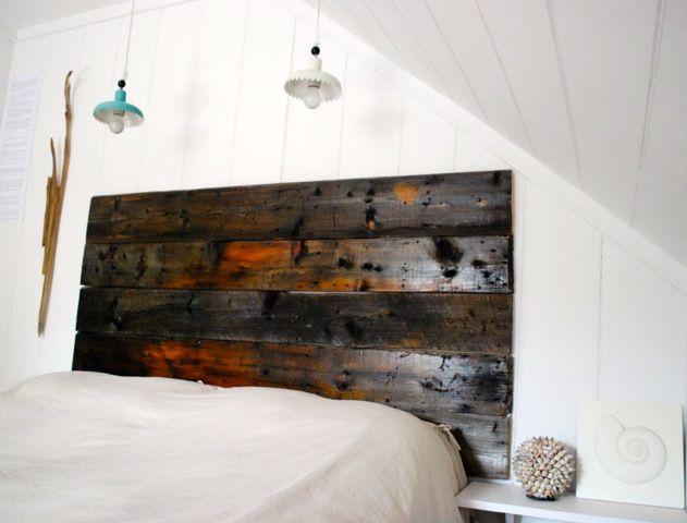 chambre tête de lit bois de grange