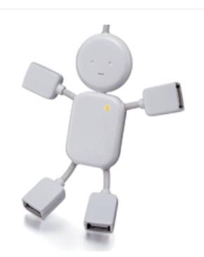 USB Hub (product code: YT-HUB007) #USB #usbhub #computer #gift #resellers #promoproducts #computeraccessories #technology #white #man http://www.yatamatechnology.com.au/