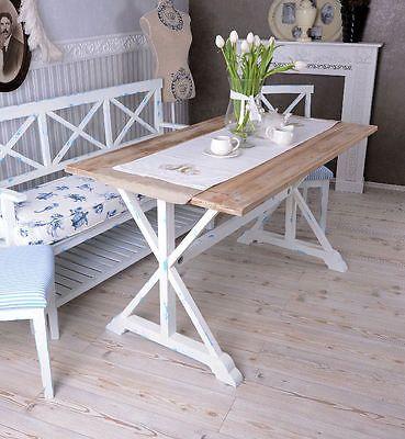 Tavolo Da Cucina Sylt Tavolo Blu Bianco Tavolo Pranzo Casa Campagna