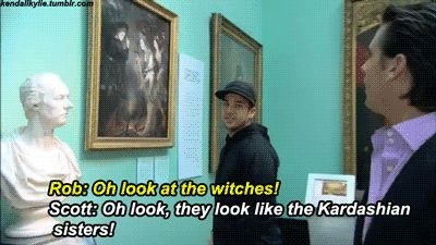 And again. | 16 Times Scott Disick Totally Owned The Kardashians haha omg lol Scott too funny =)