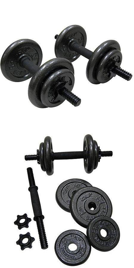 Gold's Gym Adjustable Cast Dumbbell Set, 40 lbs