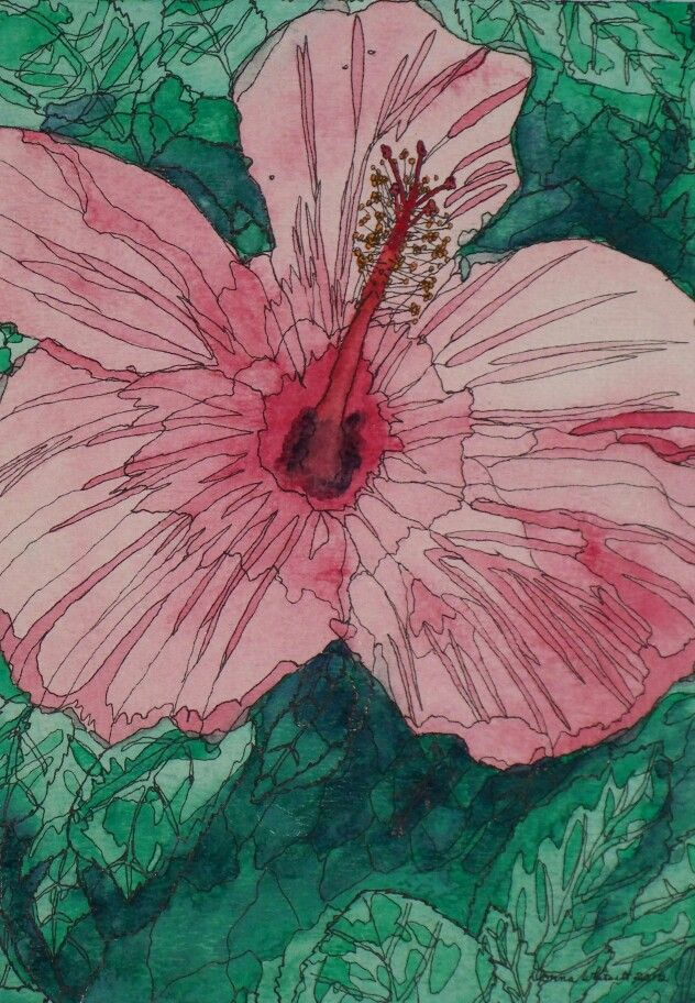 """""""Beauty On Display""""  Watercolor & Ink 12"""" x 16"""""""