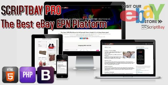 ScriptBay PRO eBay Seller Minisite - TRIPLE Income from you New Platform