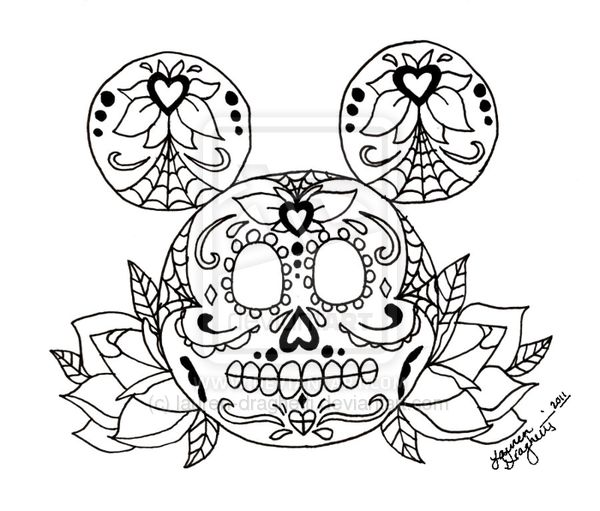 sugar skull designs coloring pages - photo#35