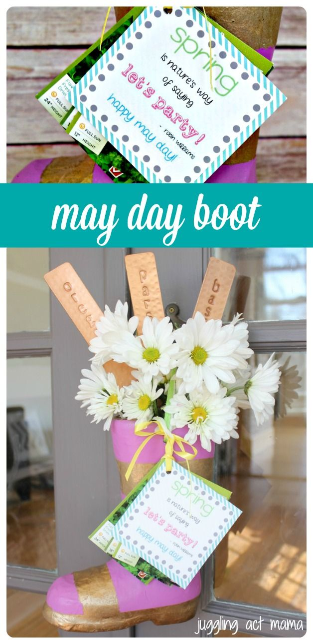 may day boot our version of a may basket juggling act mama