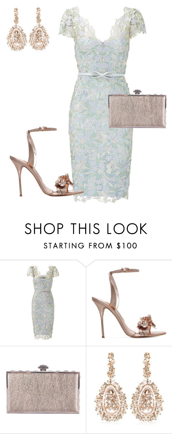 """""""Best Dressed Wedding Guest"""" by arta13 ❤ liked on Polyvore featuring Notte by Marchesa, Sophia Webster, Judith Leiber and Suzanne Kalan"""