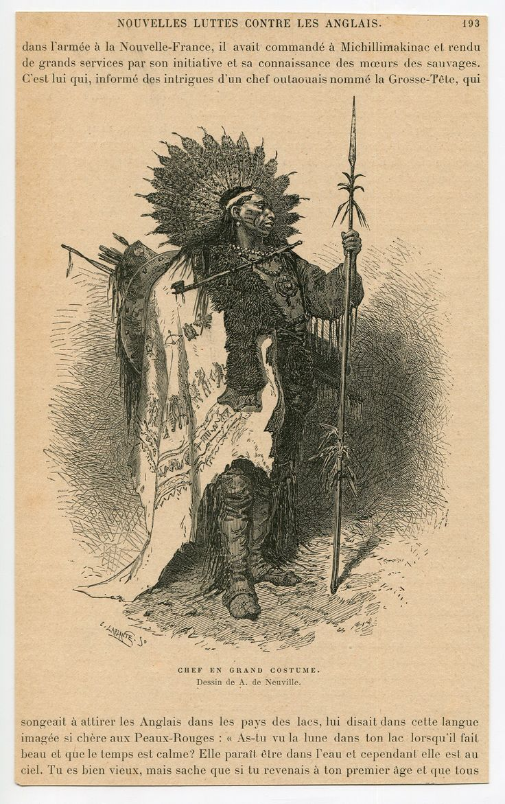 New France Canada Indians Chief Battle Suit 1904 2 sheets