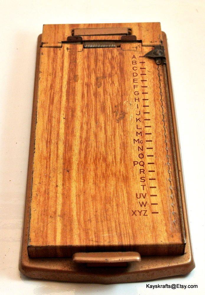 Bates List Finder Model A Telephone Address Finder Vintage Metal Address Keeper Made By Bates MFG Co Orange NJ by kayskrafts on Etsy