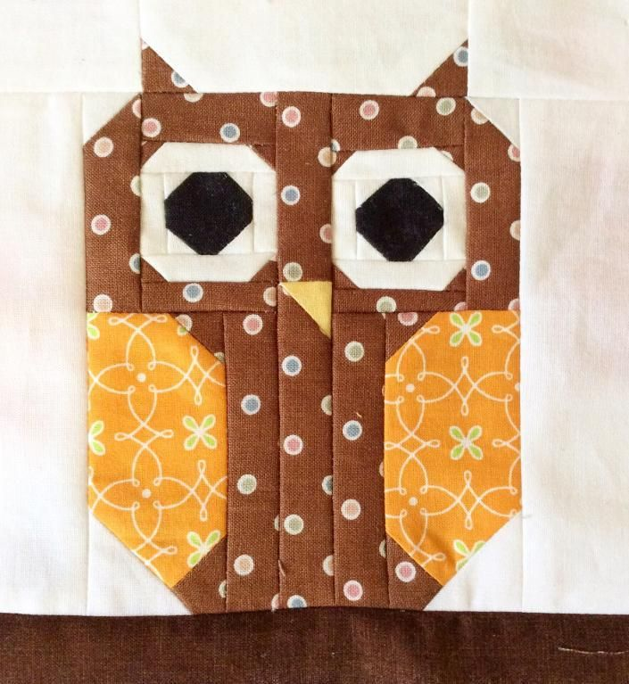 (7) Name: 'Quilting : Cute Owl Quilt Block