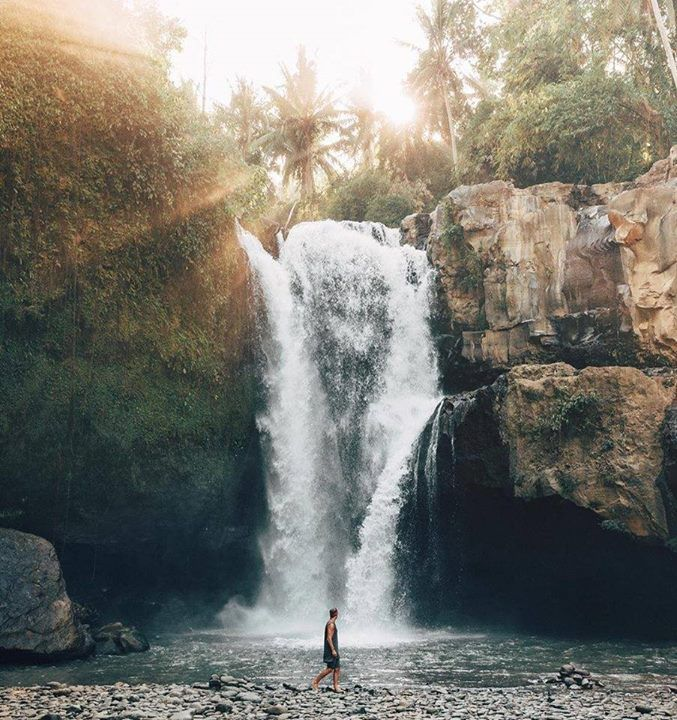 Walk by the waterfall    Bali Indonesia |  Doyoutravel Say Yes To Adventure