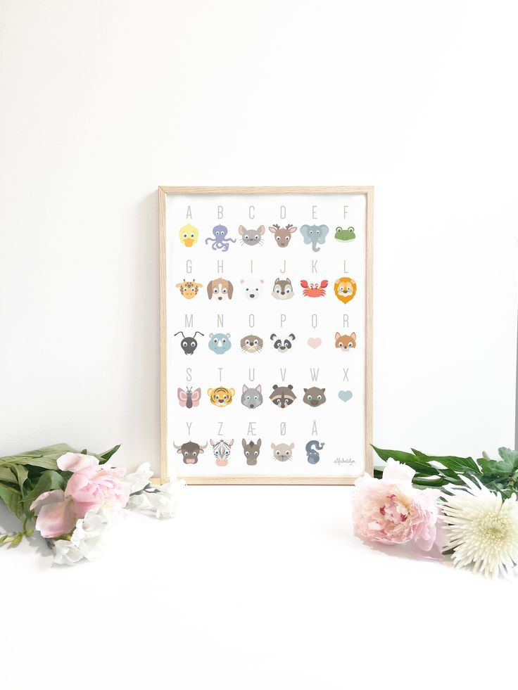 Let the animals help your tiny one with learning the alphabet. Poster available in 6 languages.