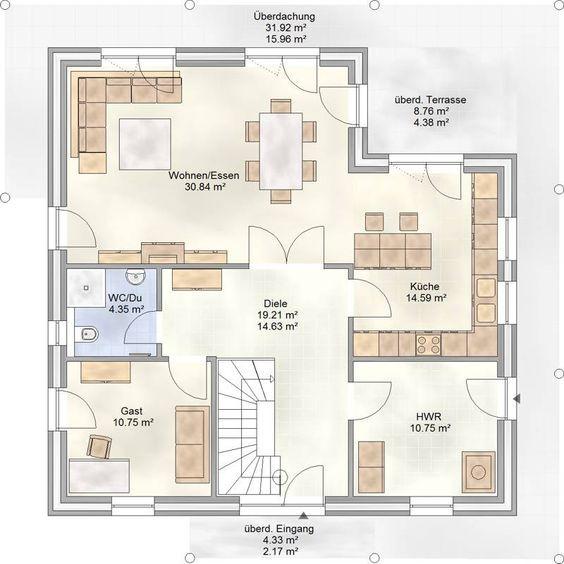 Hauspläne grundrisse  80 besten Grundrisse Bilder auf Pinterest | Hausbau, Garten und ...