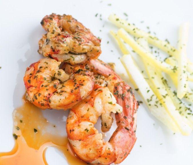 A wonderful Weight Watchers friendly version of shrimp scampi.  Garlic herb shrimp 4p