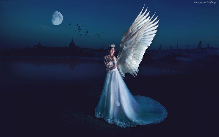 Fantasy, Kobieta, Skrzydła, Anioł