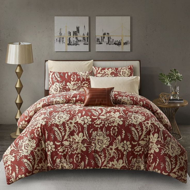 Copper Grove Rovenky 3-piece Comforter Set (Full - Queen), Red