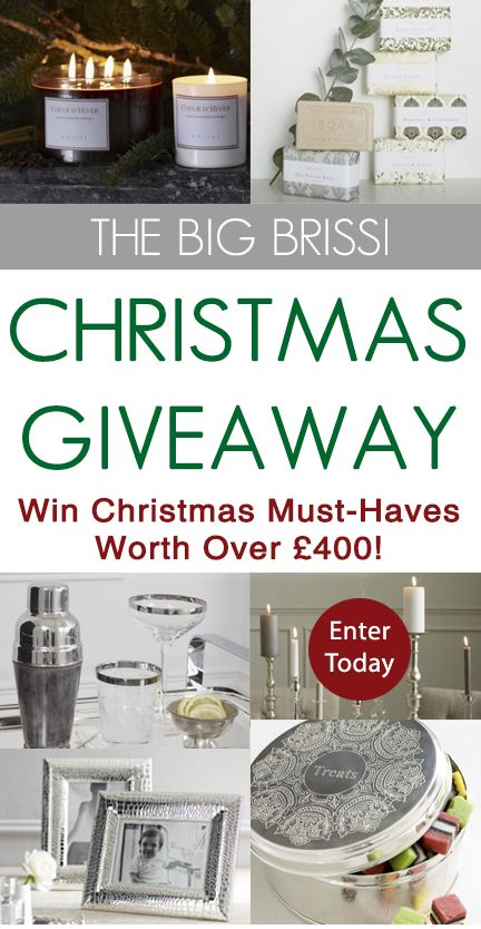 """Win everything you need for a magical Brissmas. Simply follow us on Pinterest, re-pin this post and then pin 3 of your favourite Brissi Christmas gifts, using the hashtag #MerryBrissmas. You can pin directly from each of our product pages online, using the """"Pin It"""" icon or re-pin from our existing boards on here (we'll leave that up to you). Visit the competition page for full details and more ways to win this top prize: www.brissi.com/competitions #competition #win"""