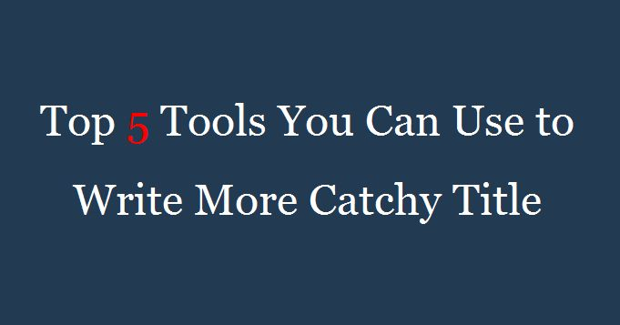Amid the hubbub of millions of posts that are being written and published every single day, a catchy & engaging title is your best bet if you want to attract online users and keep a decent user...