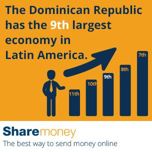 Send money to the Dominican Republic (DR).  Did you know?  The Dominican Republic has the 9th largest economy in Latin America.