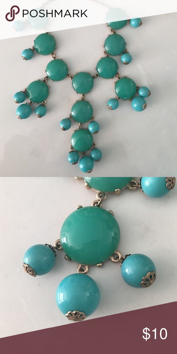 Turquoise Bubble Necklace Bubble necklace given as a gift. Worn once! Still in good condition. Charming Charlie Jewelry Necklaces