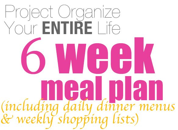 Six full weeks of dinner menus complete with full recipes and weekly shopping lists - yippee!