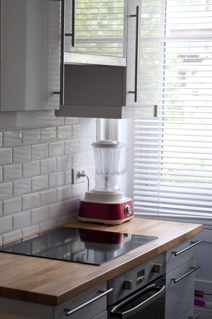 Des carrelages métro en crédence, cuisine. www.f-tory.com