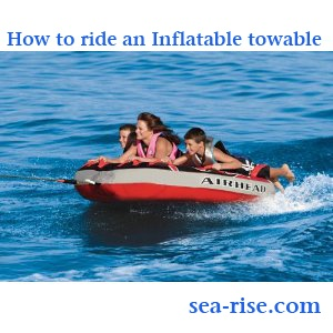 Guiding you how to ride and inflatable towable #inflatabale towable #tube #beach