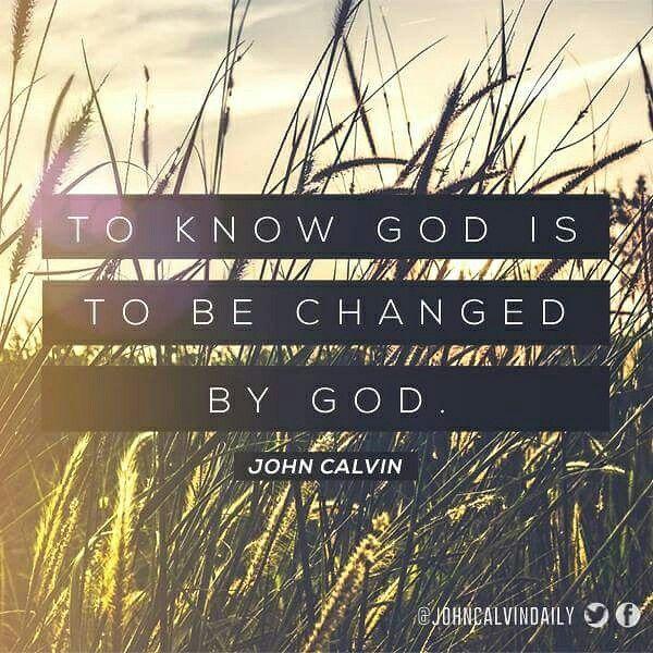 John Calvin, God