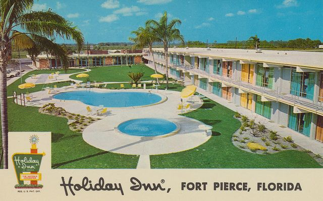 Holiday Inn - Fort Pierce, Florida | Flickr - Photo Sharing!  Sunshine State Parkway and State Road No. 70 Telephone: 464-5000 - Holidex 69AB 100 units, swimming pool, Patio, Restaurant, Cocktail Lounge, Air Conditioning, Free TV, Meeting and Banquet Rooms to accommodate 200 persons. P.O. Box 1628.