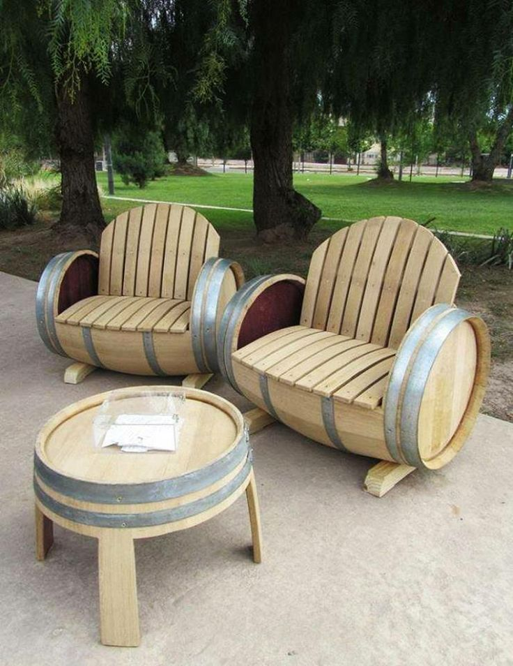 Awesome way to reuse wooden barrels