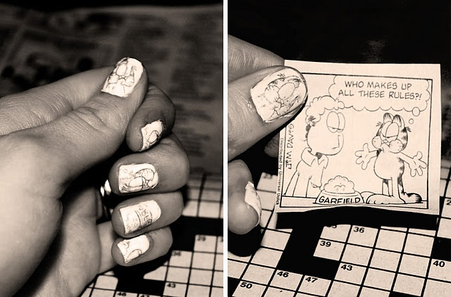 Newsprint for a personalized manicure