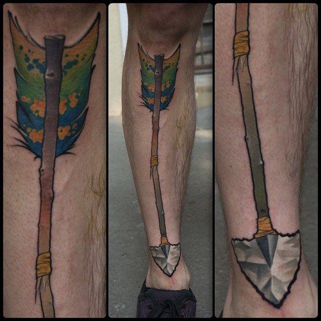 Broken Arrow Leg Tattoo