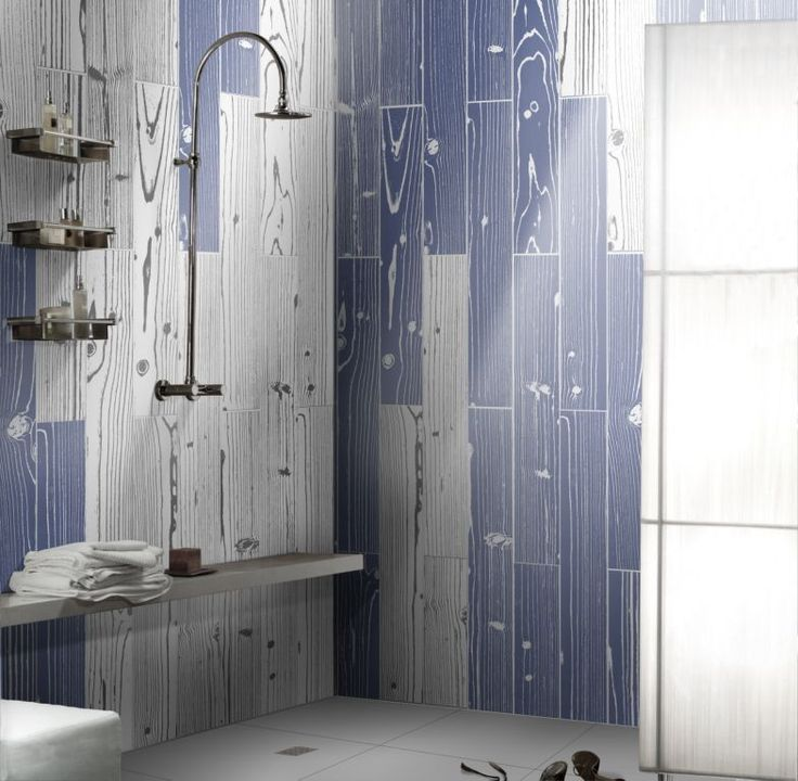 Incredible shower and bathroom creation using coloured timber tiles available at Signorino Tile Gallery